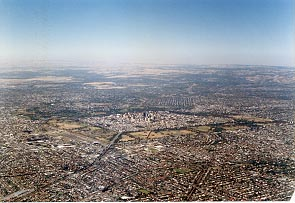 Aerial view of the city of Adelaide, South Australia.