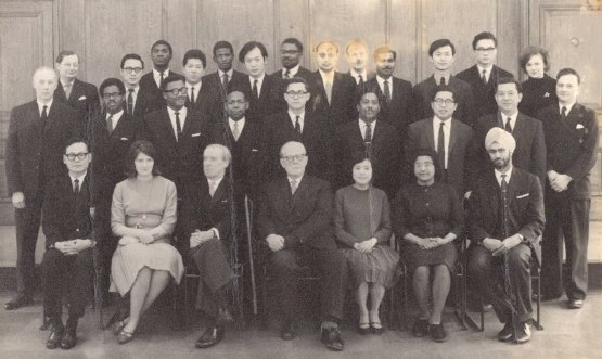 1964 London, UK, on completion of the Barrister's Post Final,  Pratical Course, middle of middle row.