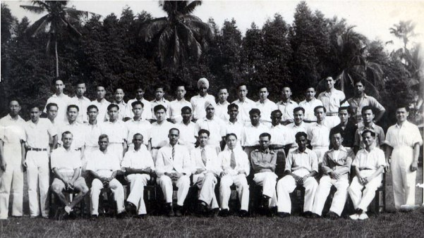 1946 Anglo-Chinese School, Ipoh, Malayasia, standard 8, standing second from left.