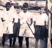 About 1937, Singapore, second on the left