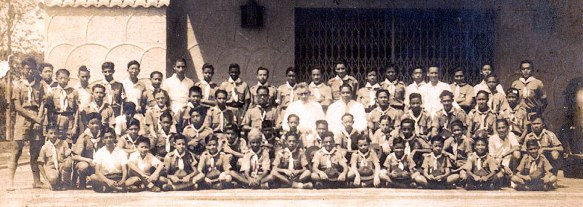 St. Andrew's School Scout Group, about 1939, second row far right.