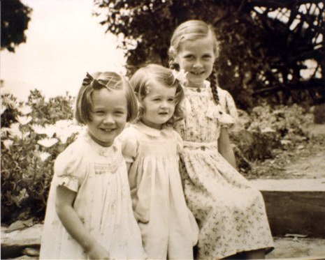 Susan Meg Potter (now Barrows) 4,  Lesley Ann Potter (now Nuttall) 2,  Janet Beeching Potter (now Wilson) 8