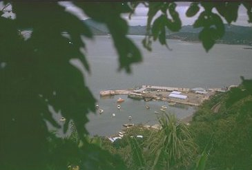 The Catalina (flying boat) Wharf as seen from Touaguba Hill