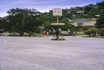 A policeman on point duty at the busiest intersection in Port Moresby